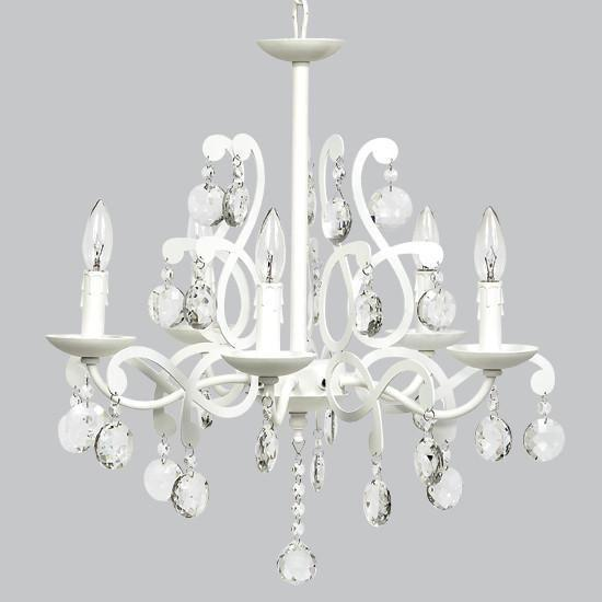 5 Light Elegance Chandelier - White