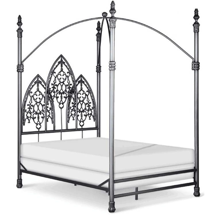 Corsican Iron Canopy Bed 5517 | Gothic Canopy Bed-Canopy Bed-Jack and Jill Boutique