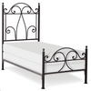 Corsican Iron Standard Bed 5904 | Standard Bed with Scrolls