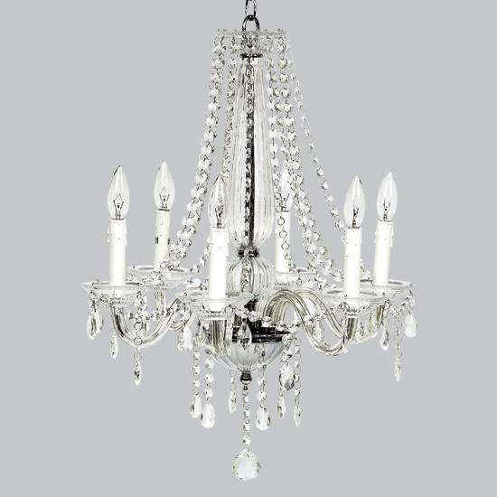 6 Light Middleton Glass Chandelier