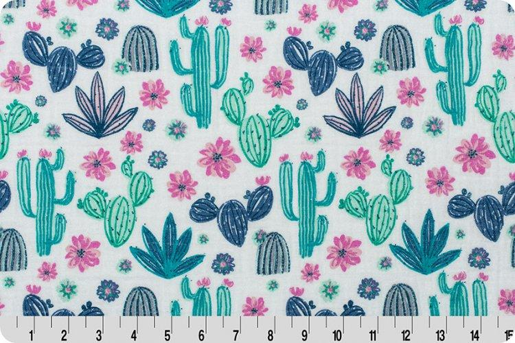 Midnight Cactus Embrace® Dusk | Double Gauze Cotton-Fabric-Jack and Jill Boutique