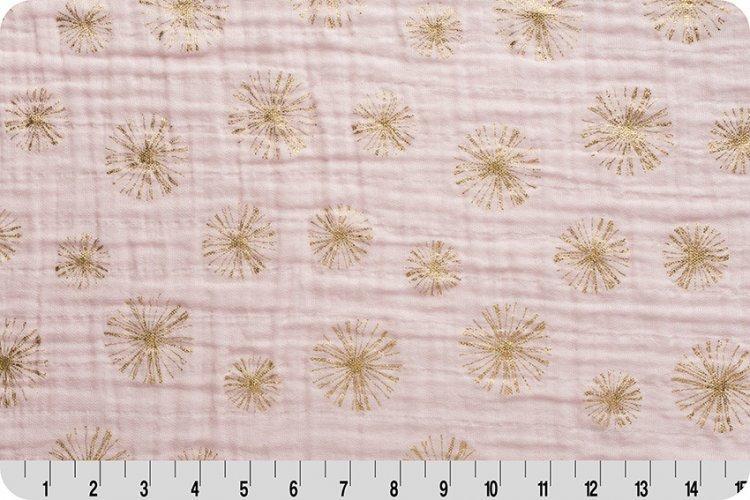 Make A Wish Metallic Embrace® Blush/Gold | Double Gauze Cotton-Fabric-Jack and Jill Boutique
