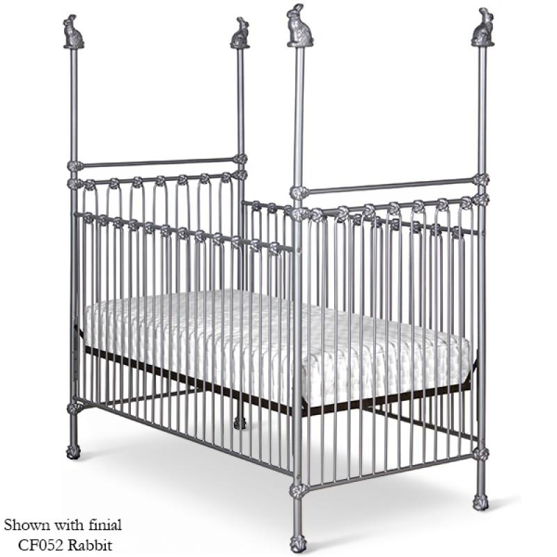 Stationary Four Post Crib w/ Bunnies-Crib-Default-Jack and Jill Boutique