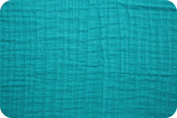 Solid Embrace Teal | Double Gauze Cotton-Fabric-Jack and Jill Boutique