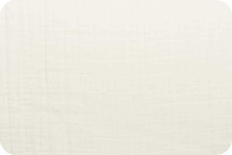 Solid Embrace Ivory | Double Gauze Cotton-Fabric-Fabric By Yard-Jack and Jill Boutique