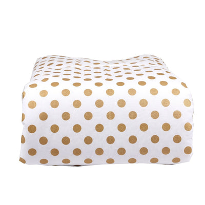 Coral Sunset, Papaya and Gold Dots Baby Bedding | Gold Dots on White, Coral Crib Comforter