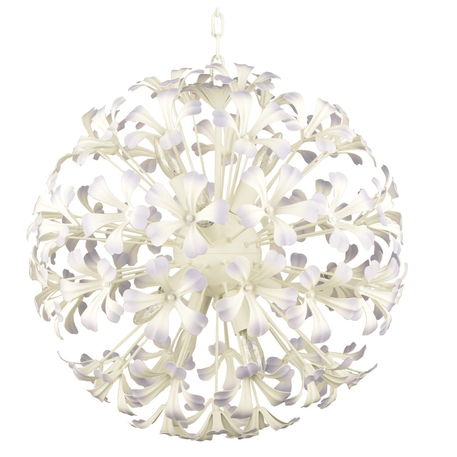Chandelier Aura 8 Light White and Lavender