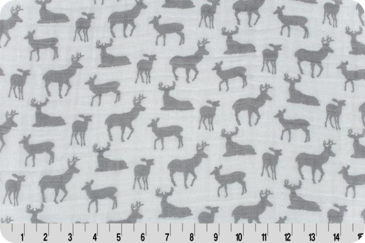 Premier Deer To Me Embrace® Steel | Double Gauze Cotton-Fabric-Fabric By Yard-Jack and Jill Boutique