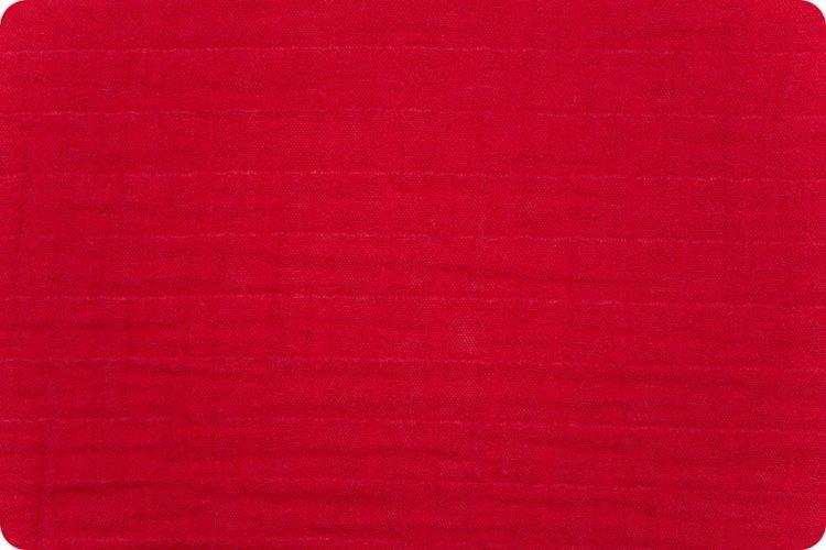 Solid Embrace® Ruby Red | Double Gauze Cotton-Fabric-Jack and Jill Boutique