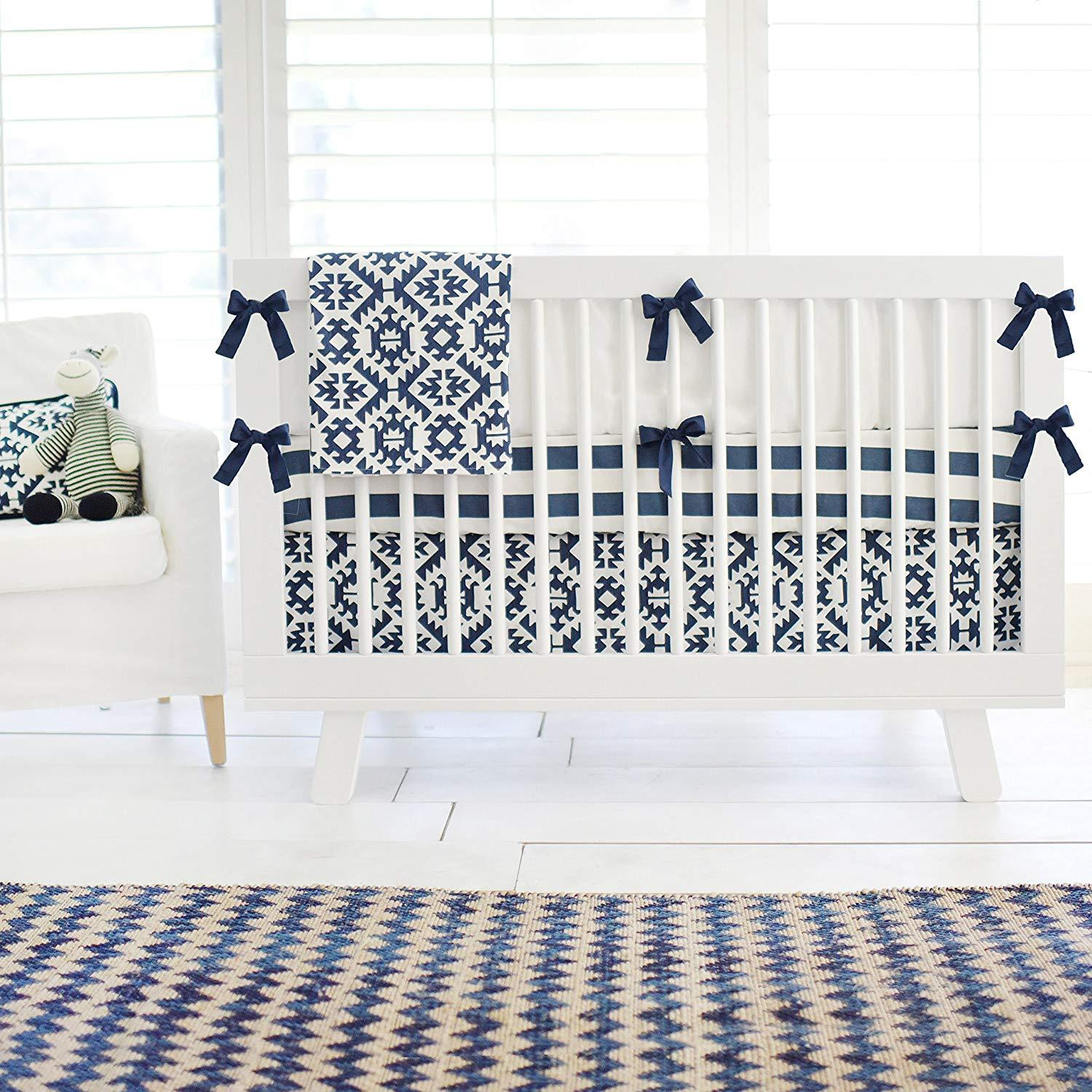Arizona Aztec Navy Baby Bedding Set-Crib Bedding Set-Jack and Jill Boutique