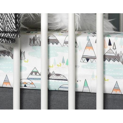 Olli Lime Teepee Crib Baby Bedding Set-Crib Bedding Set-Default-Jack and Jill Boutique