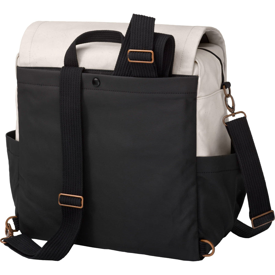 Boxy Backpack In Birch/Black | Petunia Pickle Bottom-Diaper Bags-Jack and Jill Boutique