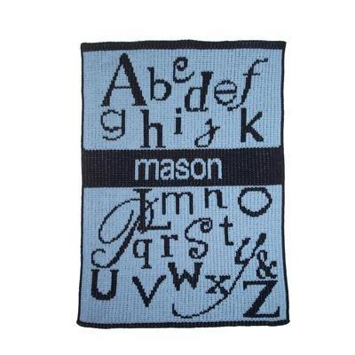 ABC'S & Name Stroller Blanket-Blankets-Jack and Jill Boutique