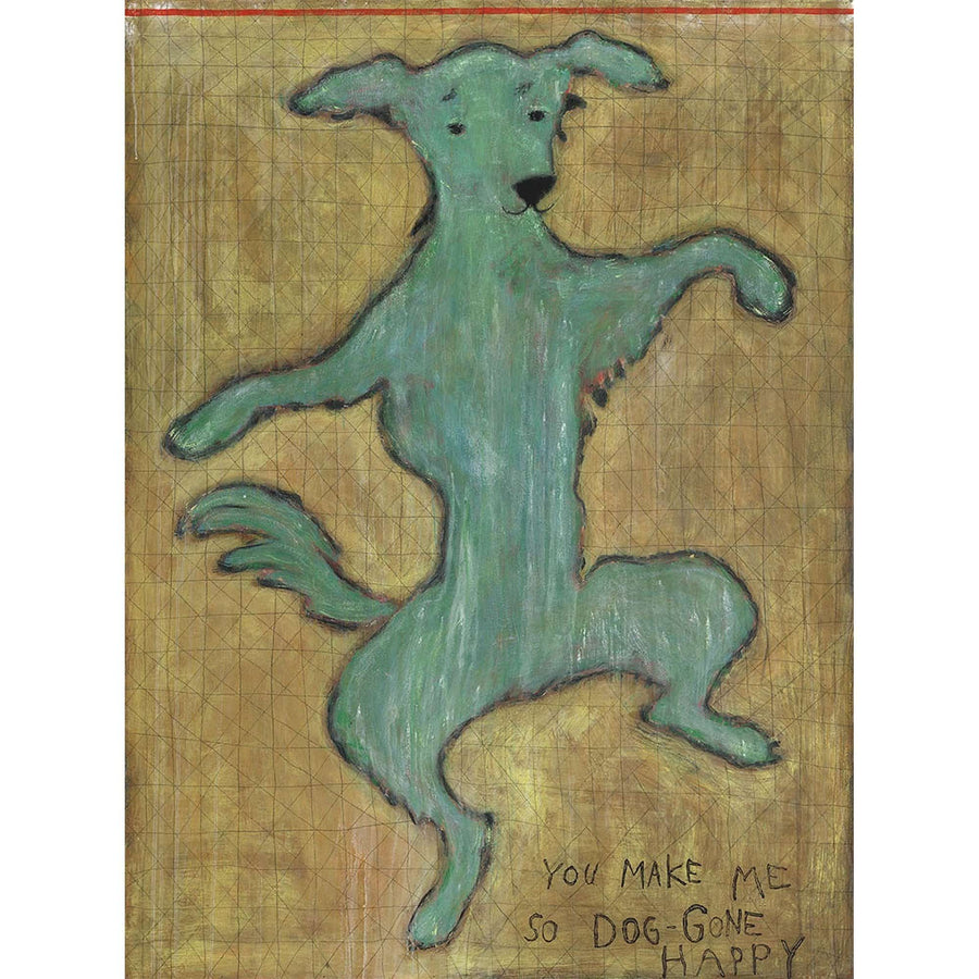 "ART PRINT - Dancing Dog-Art Print-Gallery Wrap - 25"" x 36""-Jack and Jill Boutique"