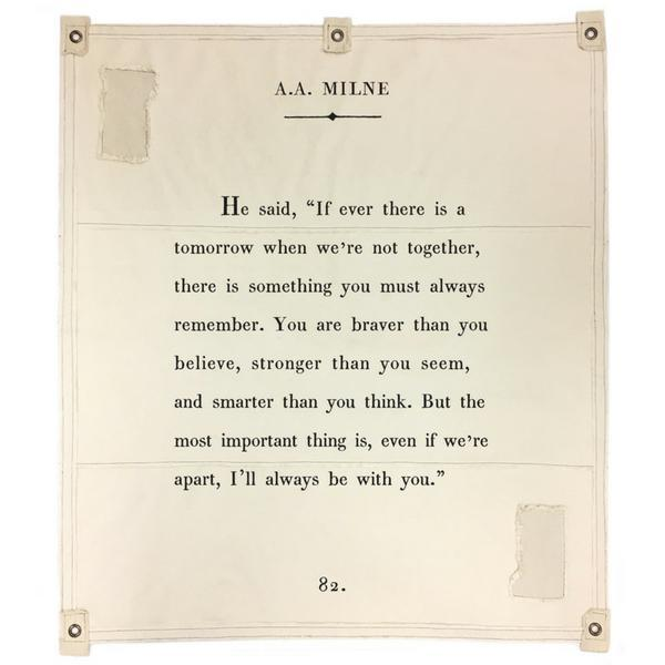 Wall Tarp - Quote from A.A Milne Wall Hanging