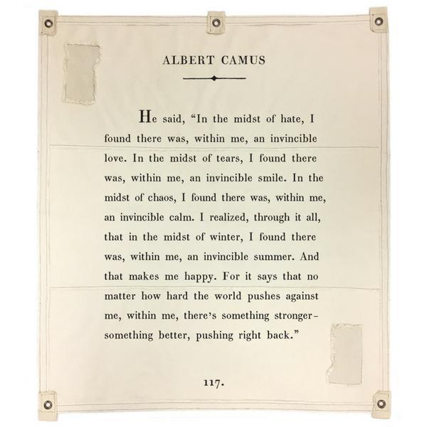 Wall Tarp - Quote from Albert Camus Wall Hanging