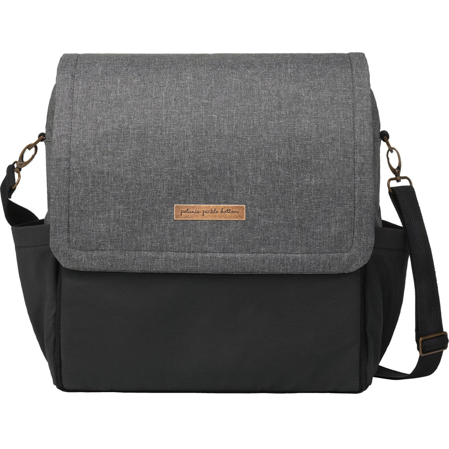 Boxy Backpack In Graphite/Black | Petunia Pickle Bottom