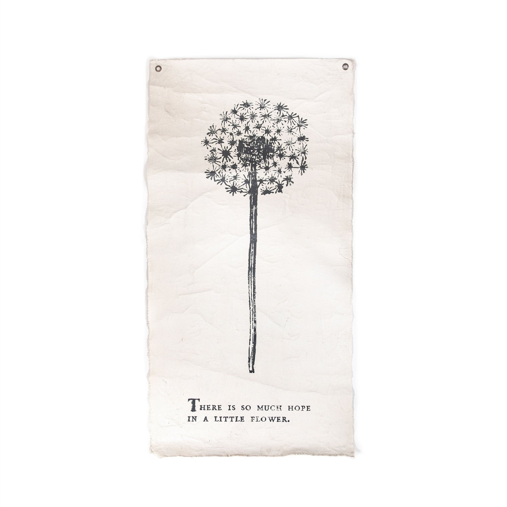"THERE IS SO MUCH HOPE - BOTANICAL WALL TARP - 32""X63""-Wall Tarp-Jack and Jill Boutique"