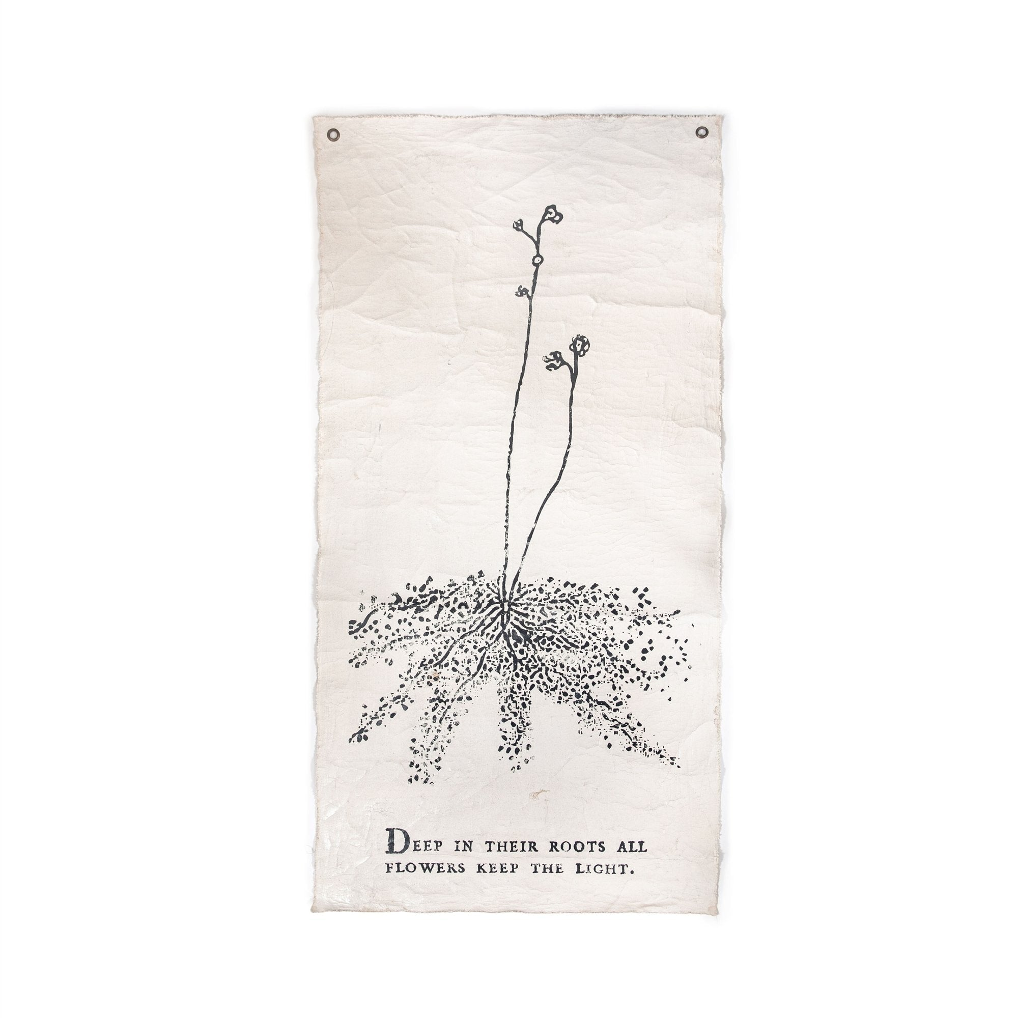 "DEEP IN THEIR ROOTS - BOTANICAL WALL TARP - 32""X63""-Wall Tarp-Jack and Jill Boutique"