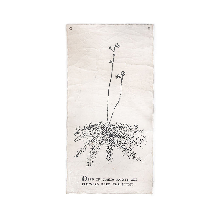 "DEEP IN THEIR ROOTS - BOTANICAL WALL TARP - 32""X63"""