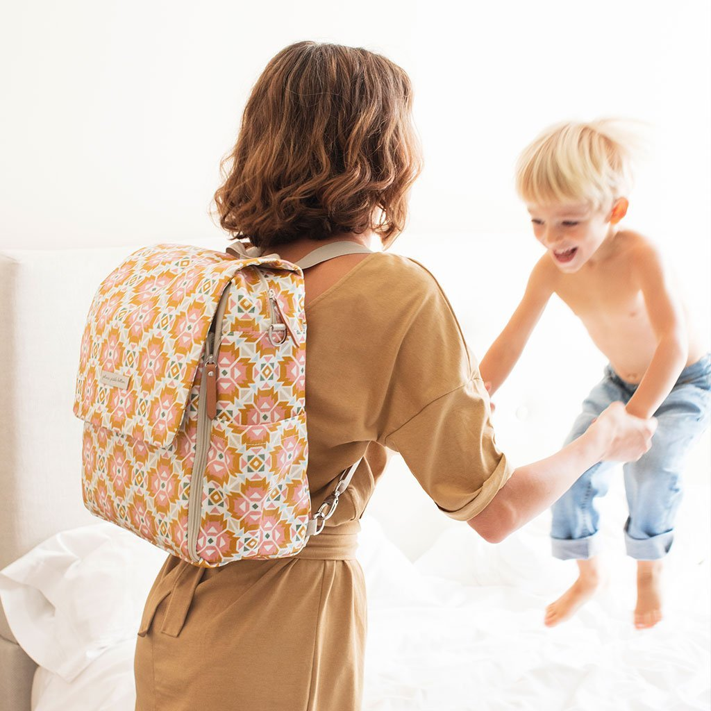 Boxy Backpack in Mosaics of Montijo-Diaper Bags-Default-Jack and Jill Boutique