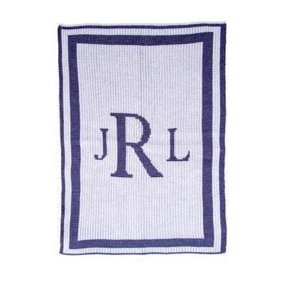 Classic Monogram Personalized Stroller Blanket or Baby Blanket-Blankets-Jack and Jill Boutique