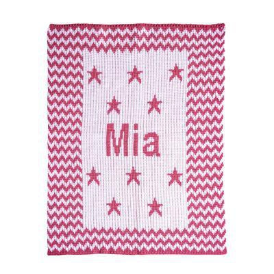 Chevron & Stars Personalized Stroller Blanket or Baby Blanket-Blankets-Jack and Jill Boutique