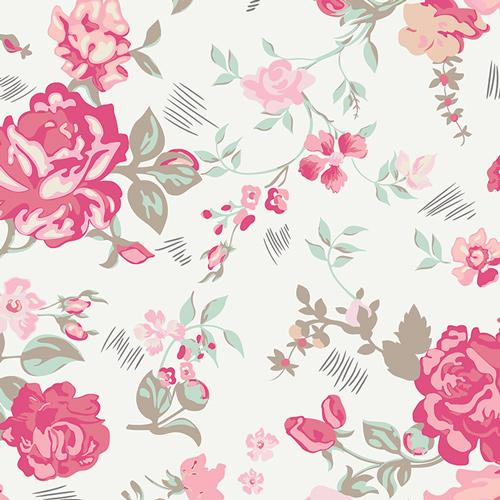 Nostalgic Rose | Premium Cotton Fabric Print