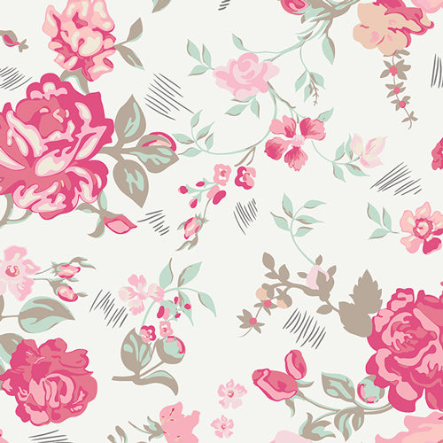 Curtain Panels | Nostalgic Rose-Curtain Panels-Jack and Jill Boutique
