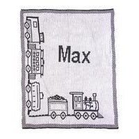 Choo Choo Train & Name Personalized Stroller Blanket or Baby Blanket-Blankets-Jack and Jill Boutique