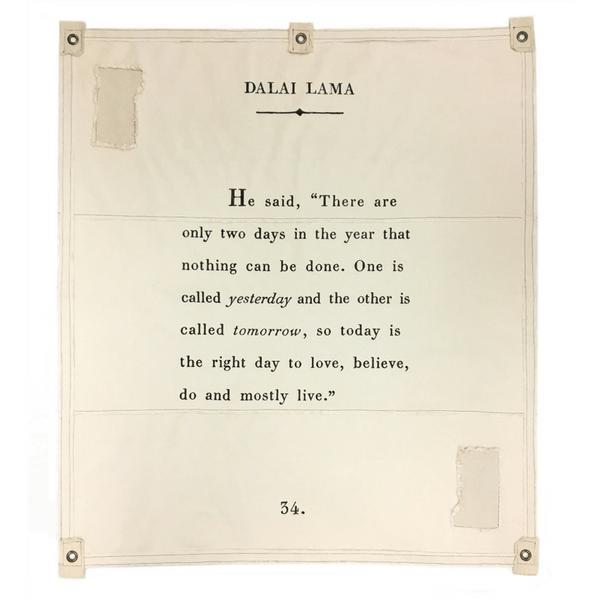 Wall Tarp - Quote from Dalai Lama Wall Hanging-Wall Tarp-Jack and Jill Boutique