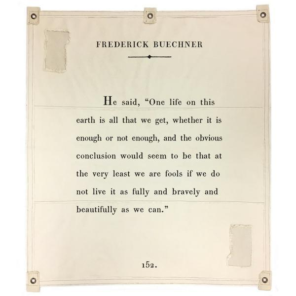 Wall Tarp - Quote from Frederick Buechner Wall Hanging