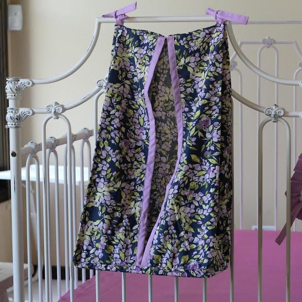 Diaper Stacker | Bougainvillea Lilac and Navy Floral Baby Bedding-Diaper Stacker-Jack and Jill Boutique