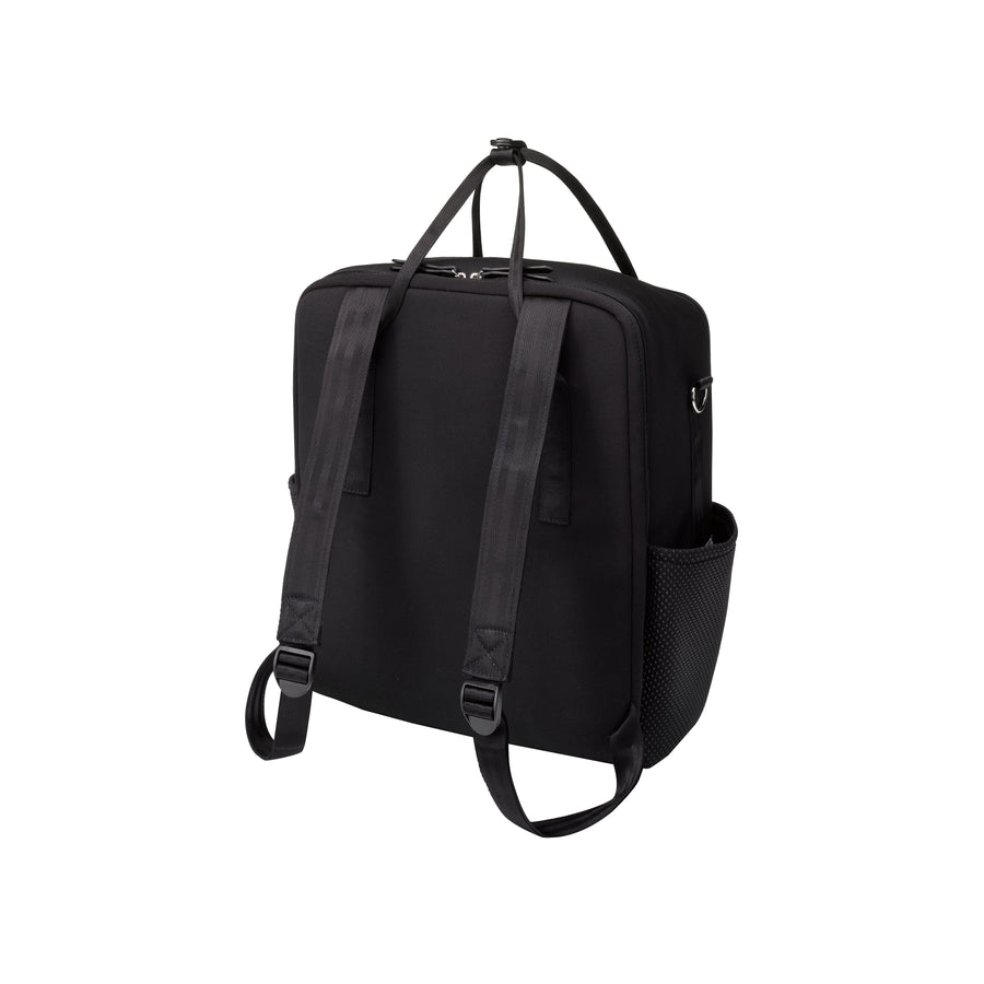 Inter-mix Backpack In Black Neoprene | Petunia Pickle Bottom-Diaper Bags-Jack and Jill Boutique
