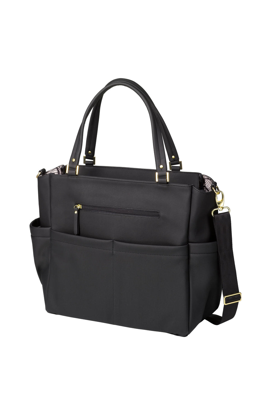 CITY CARRYALL IN BLACK MATTE LEATHERETTE  | Petunia Pickle Bottom