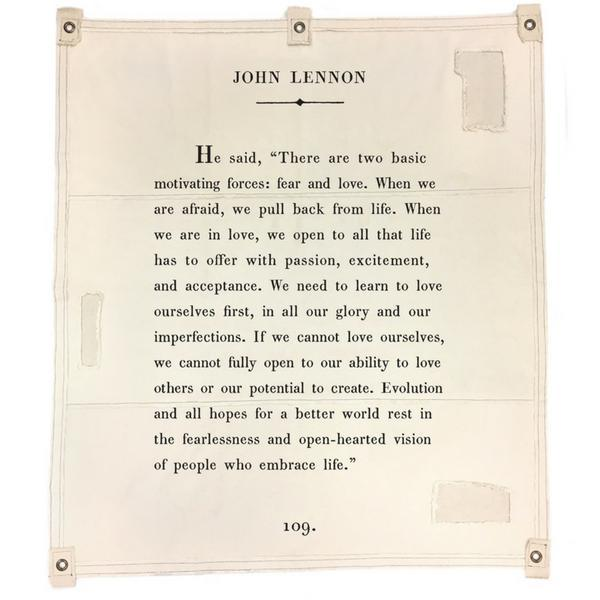 Wall Tarp - Quote from John Lennon Wall Hanging-Wall Tarp-Jack and Jill Boutique