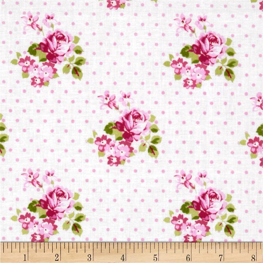 Sunshine Roses Hanky Rose Fabric by the Yard | 100% Cotton-Fabric-Default-Jack and Jill Boutique