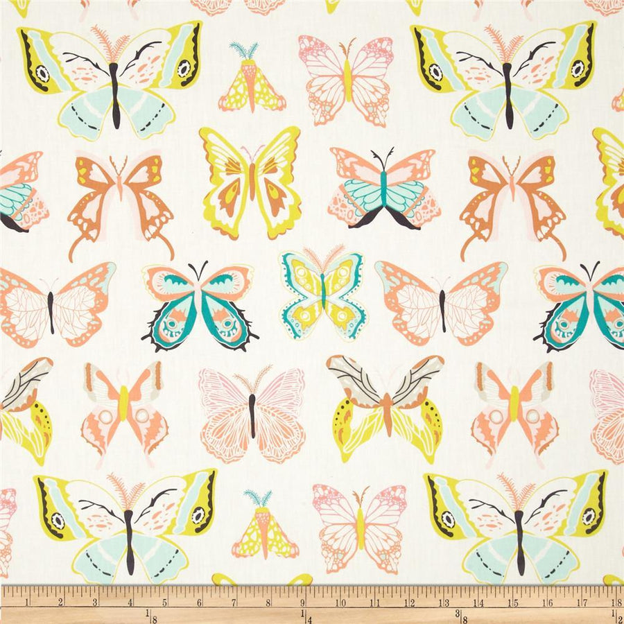 Winged Wingspan Melon Fabric by the Yard | 100% Cotton-Fabric-Default-Jack and Jill Boutique