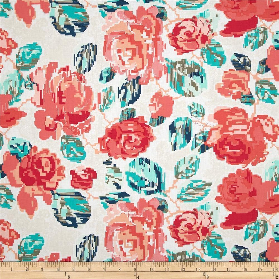 Recollection Flowered Engrams Delicate Fabric by the Yard | 100% Cotton-Fabric-Default-Jack and Jill Boutique