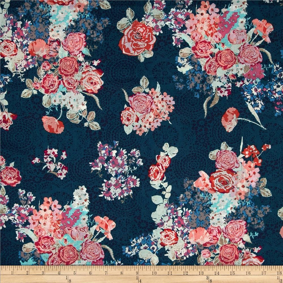 Skopelos Nisi Flora Oceanon Fabric by the Yard | 100% Cotton-Fabric-Default-Jack and Jill Boutique