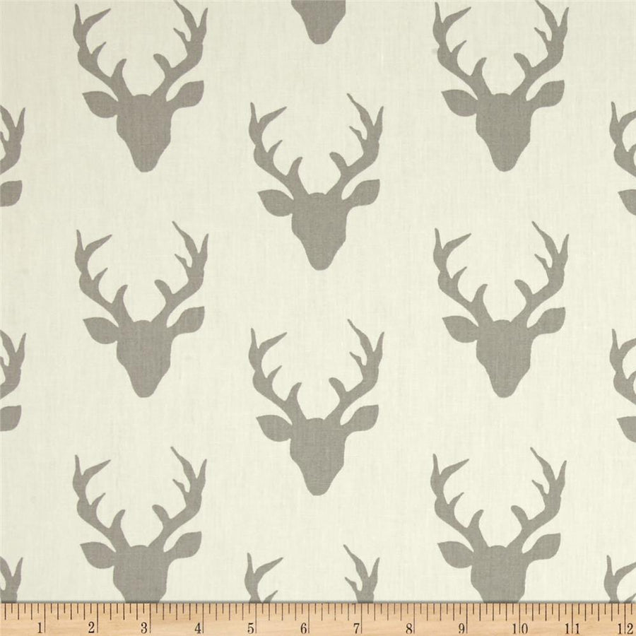 Hello Bear Buck Forest Silver Fabric by the Yard | 100% Cotton-Fabric-Default-Jack and Jill Boutique