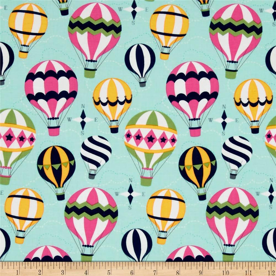 Up and Away Mist Fabric by the Yard | 100% Cotton-Fabric-Default-Jack and Jill Boutique
