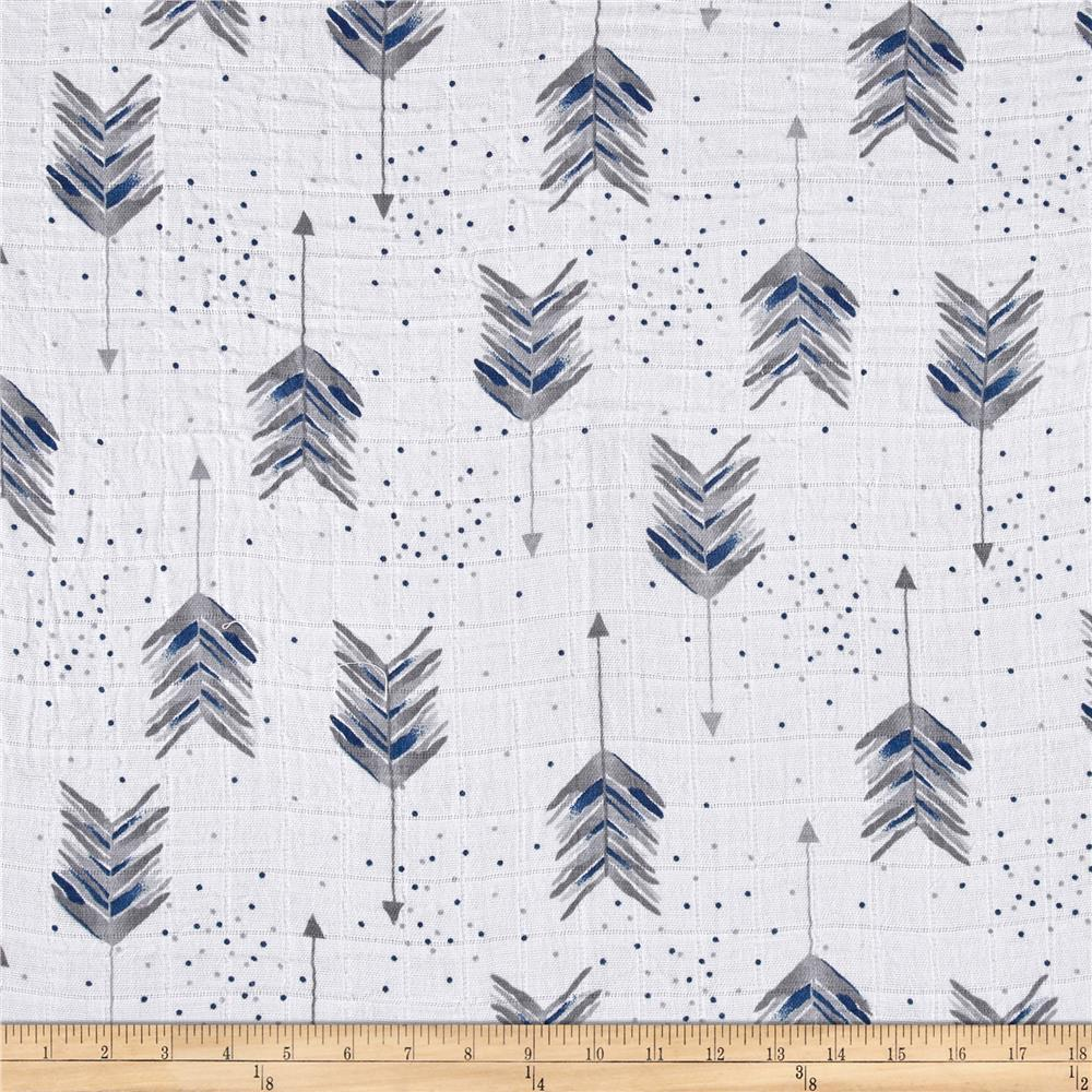 Aim High Embrace® | Double Gauze Cotton-Fabric-Steel-Fabric By The Yard-Jack and Jill Boutique