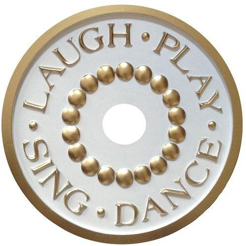 Laugh Play Sing Dance Ceiling Medallions-Medallions-Jack and Jill Boutique