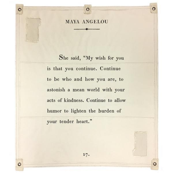 Wall Tarp - Quote from Maya Angelou - My Wish Wall Hanging-Wall Tarp-Jack and Jill Boutique