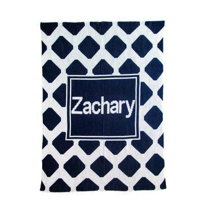 Modern Chrisscross & Name Personalized Stroller Blanket or Baby Blanket-Blankets-Jack and Jill Boutique