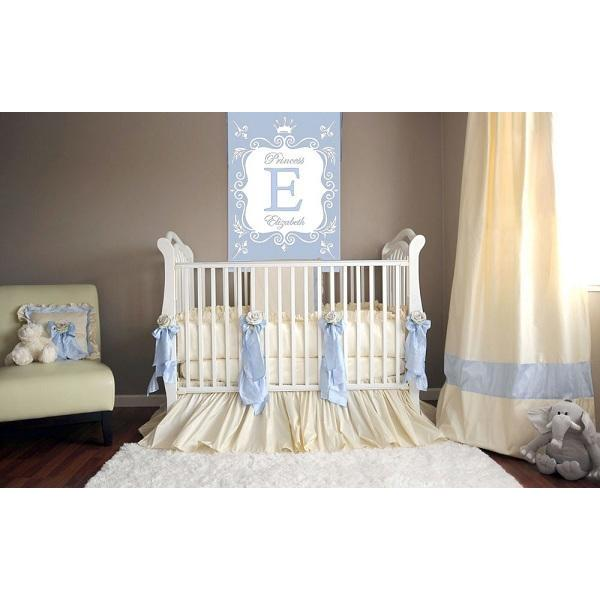 Celine in Blue Baby Bedding Set-Crib Bedding Set-Jack and Jill Boutique