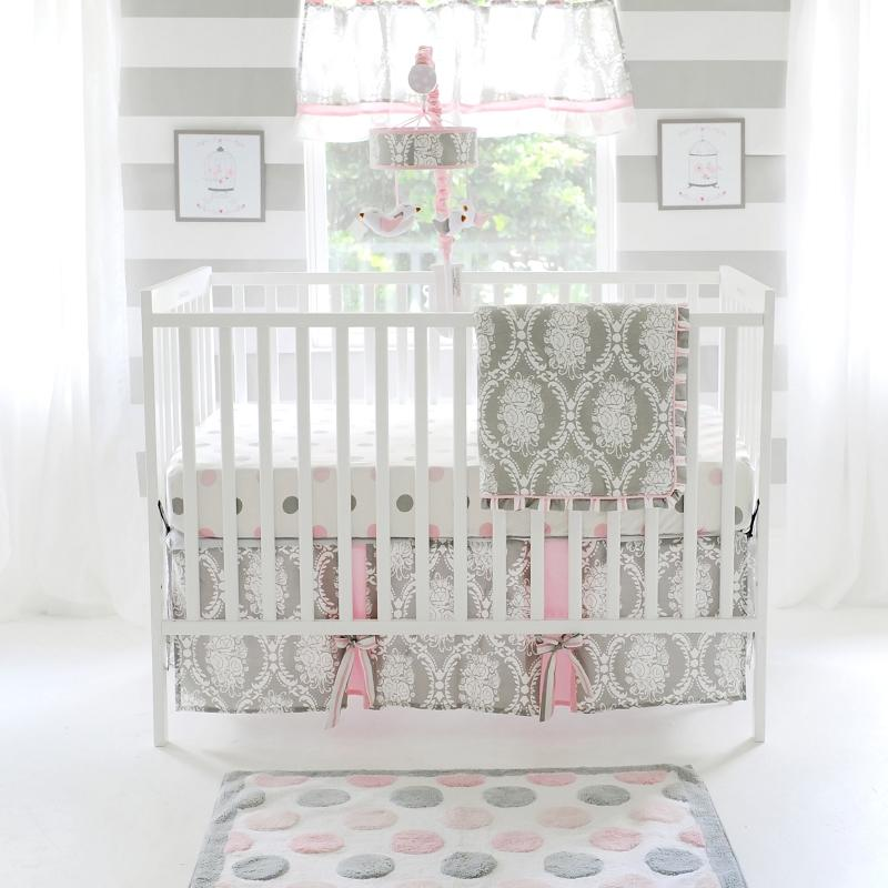 Pink and Grey Baby Bedding | Olivia Rose Crib Collection-Crib Bedding Set-Jack and Jill Boutique