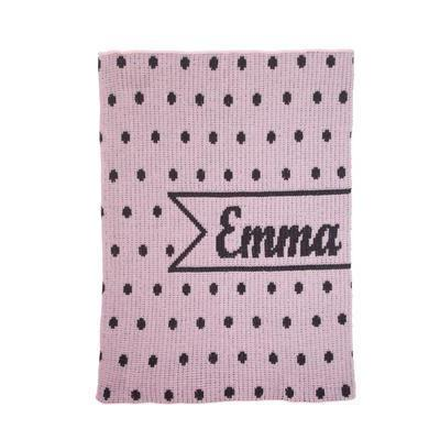 Pint-sized Polka Dots & Name Banner Stroller Blanket or Baby Blanket-Blankets-Jack and Jill Boutique