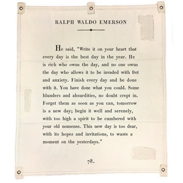Wall Tarp - Quote from Ralph Waldo Emerson Wall Hanging